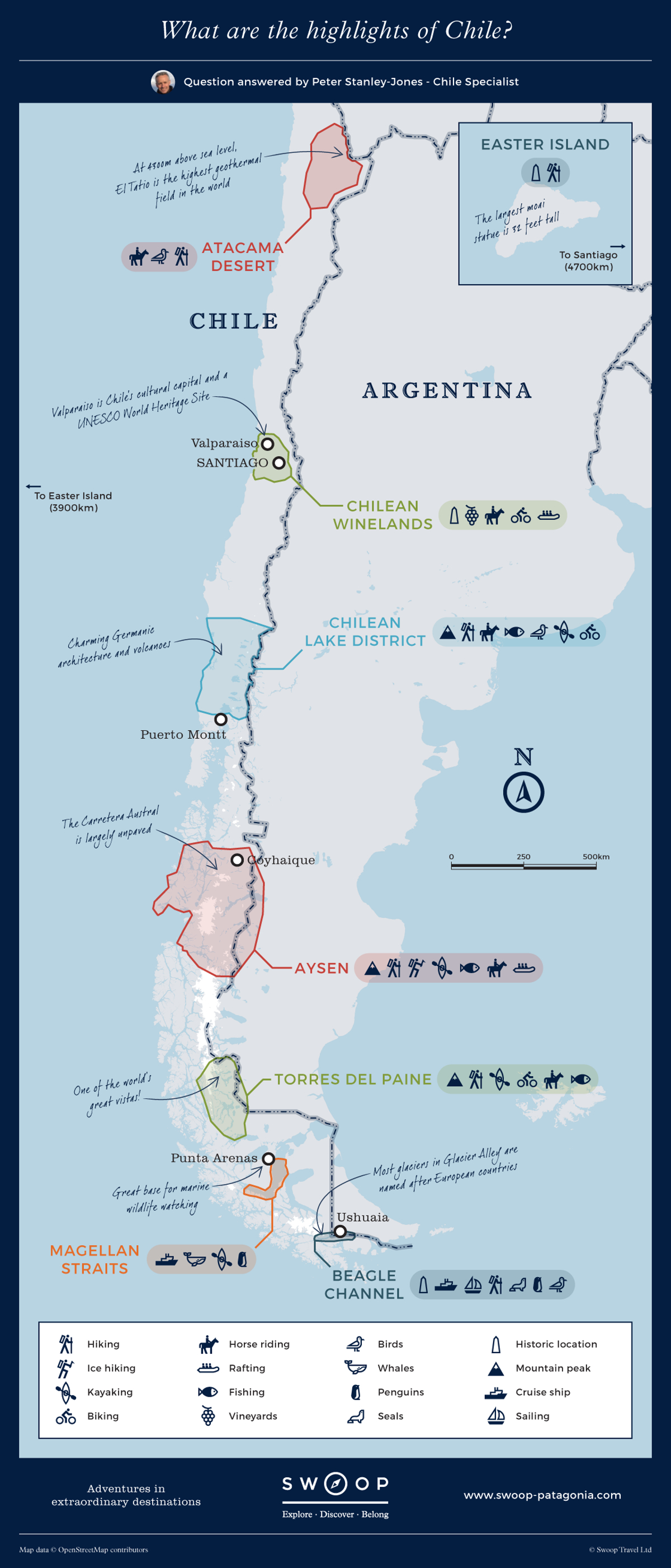 What are the highlights of Chile