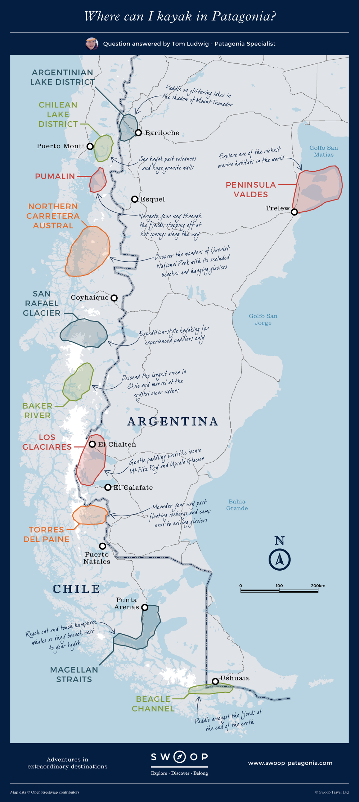 New map Where-can-I-kayak-in-Patagonia