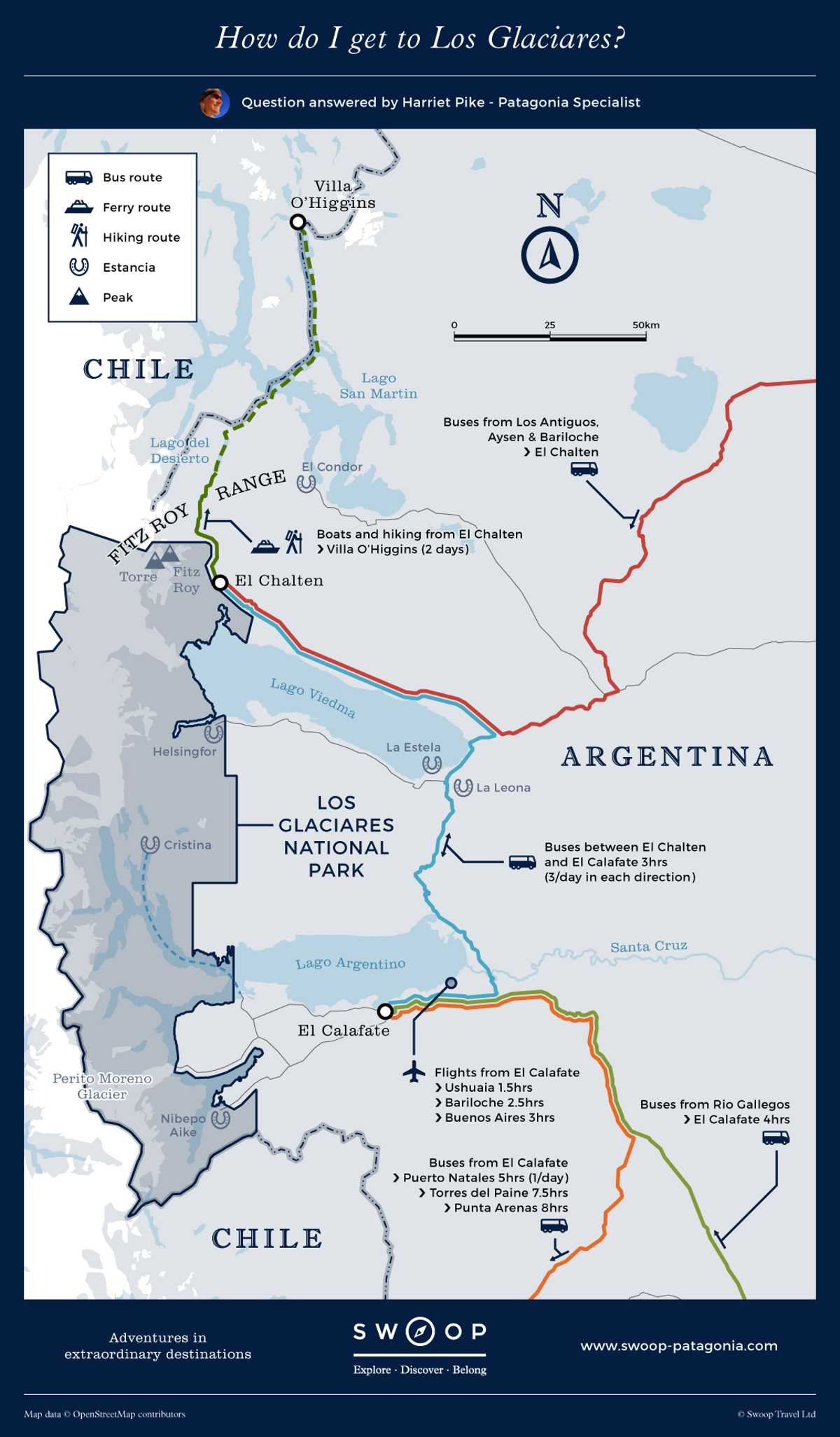 New Map Los-Glaciares-How-do-I-get-to-Los-Glaciares