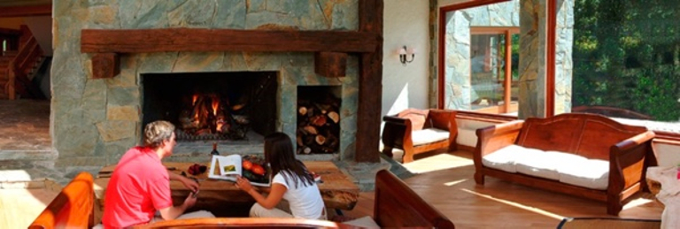 Fireplace at Hotel - Small - Petrohue p-p