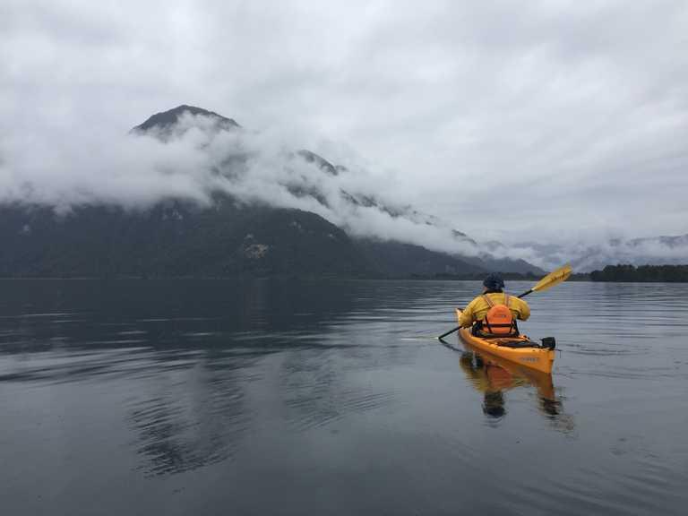 Raul Marin Balmaceda kayaking