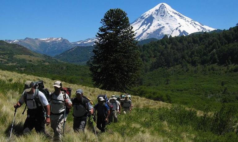 Trekking in Volcano Lanin's Shadow