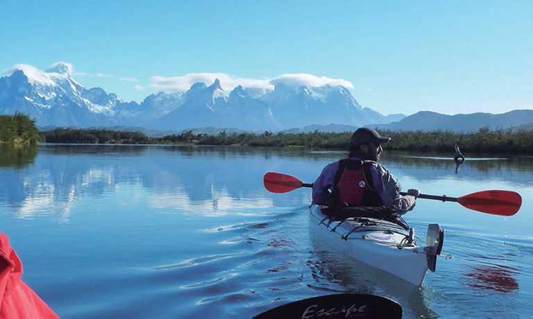 Kayaking in Torres del Paine